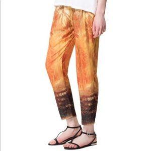 Zara DEGRADE PALAZZO Trousers Pants M